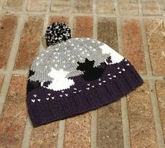 Meowf Hat - colorwork knit hat for cat lovers