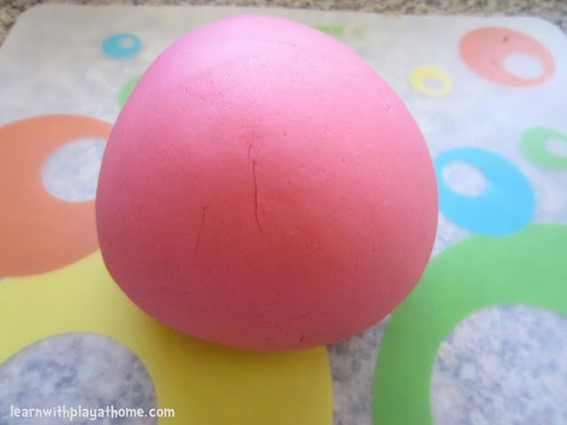 Learn with Play at home: Our very favourite playdough of all time. Quick and Easy No-Cook Playdough Recipe