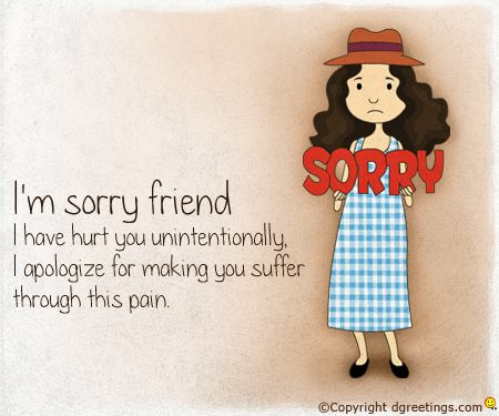 how to say sorry to your friend