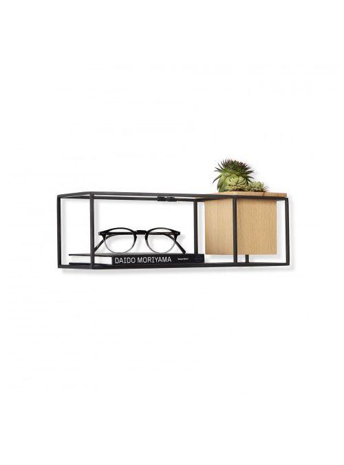 Cubist shelf small è una bellissima mensola bianca da parete Umbra, scaffale a giorno, con un contenitore in legno multifunzionale e un ripiano estraibile per ospitare diversi oggetti.   Misura 11,4 x 11,4 x 38,1 cm  Colore struttura: Bianco  PROGETTAZIONE ISPIRAZIONE: Ispirato da Piet Mondrian e le sue composizioni iconiche      versatile      Montaggio a parete o su piano scrivania