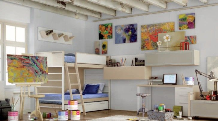 Kids Room, Artist Theme Room1: Special Creative Kids Room Designs