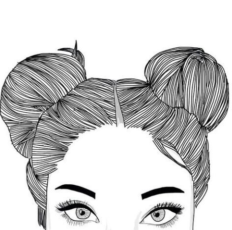 OUTLINE DRAWING OF GIRL WITH FACE COVERED TUMBLR - Google Search