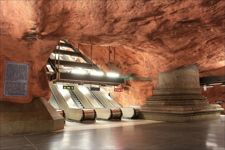 Stockholm metro - Rådhuset station - Stockholm - Sweden