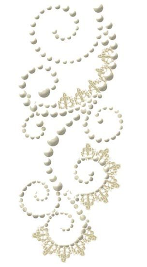 Prima - Say It In Pearls Collection - Self Adhesive Jewel Art - Bling - Swirl with Lace - Vaudeville Cream at Scrapbook.com $3.99