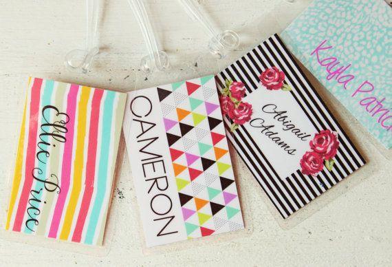 Custom Diaper Bag Tag Colorful Luggage Tag Kids by WhenItRainsShop, $6.00