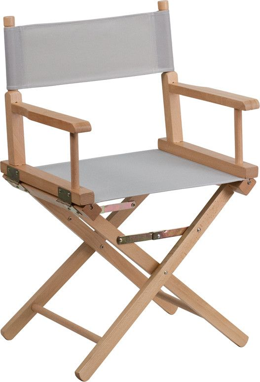 Standard Height Directors Chair in Gray