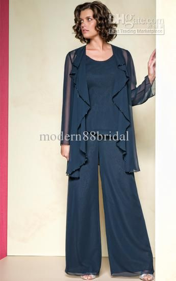Mother Of The Bride Dresses Suits Hot Sale Elegant Chiffon Applique Long Pleat Collar Long Sleeves Sequins Mother Of The Bride Pant Suits With Jacket Mother Dresses 02 Mother Of The Bride Dress Petite From Modern88bridal, $103.67| Dhgate.Com