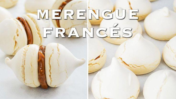 Como hacer Merengue Francés ✩ Merenguitos, Suspiros con Dulce de Leche ...