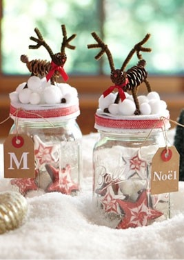 Super cute and easy Christmas cookie jars