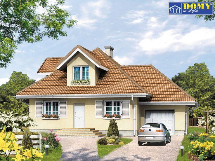 BRYZA - Projekty domów mieszkalnych - MojeDomki Projekty budowlane