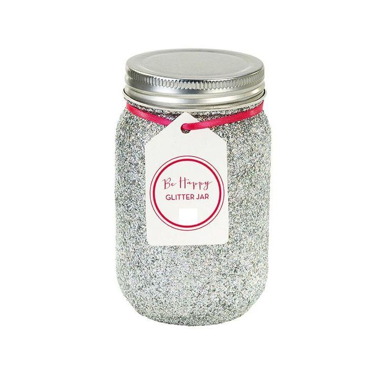 bocal mason jar pailleté pour fête anniversaire ou mariage- glitter jar for party or wedding