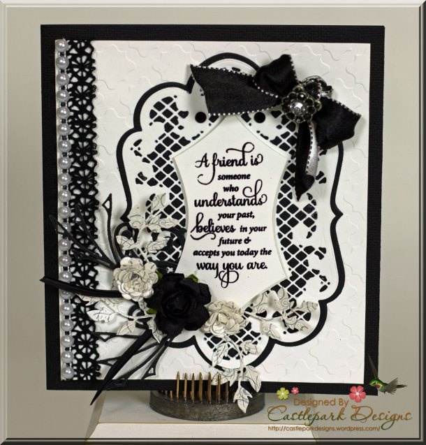 Black and White Friendship Card