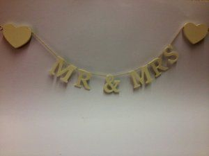 Mr & Mrs Garland £4.99 #weddingday
