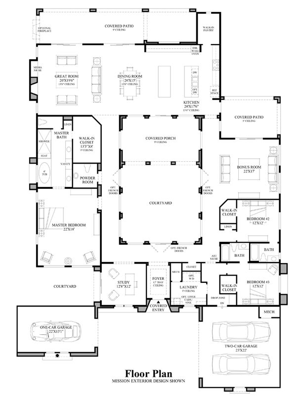 Best Houses Plans Images On Pinterest Architecture House - Luxury house plans floor plans and home designs