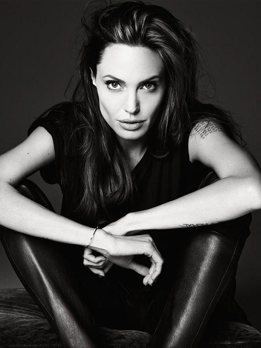 Le Fashion Blog Angelina Jolie Elle Magazine June 2014 By Hedi Slimane Leather Pants