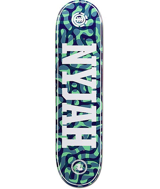 """Skate with confidence when you swap out your old deck for the new Element Nyjah Braincells 7.75"""" Skateboard Deck. This is Nyjah Huston's signature pro model built from a solid 7-ply maple construction and a simplistic graphic featuring Nyjah's last name i"""