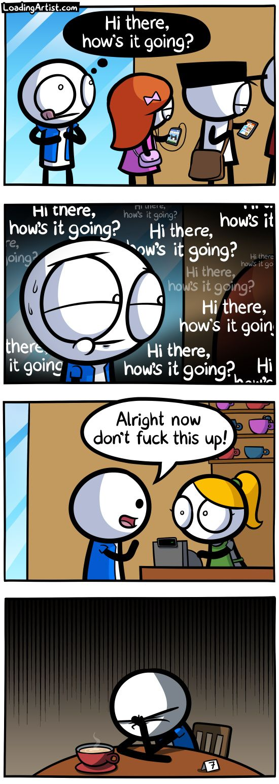 Hi there, how's it going? ... tap to view the full comic! (Repinned for john johnson)