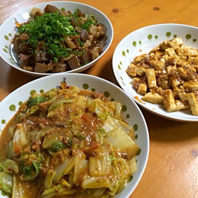 ほんぢつの晩めし♪ - 5件のもぐもぐ - 白菜の肉味噌炒め、すき焼き豆腐&豚バラこんにゃく♪(*^_^*) by gchan1721