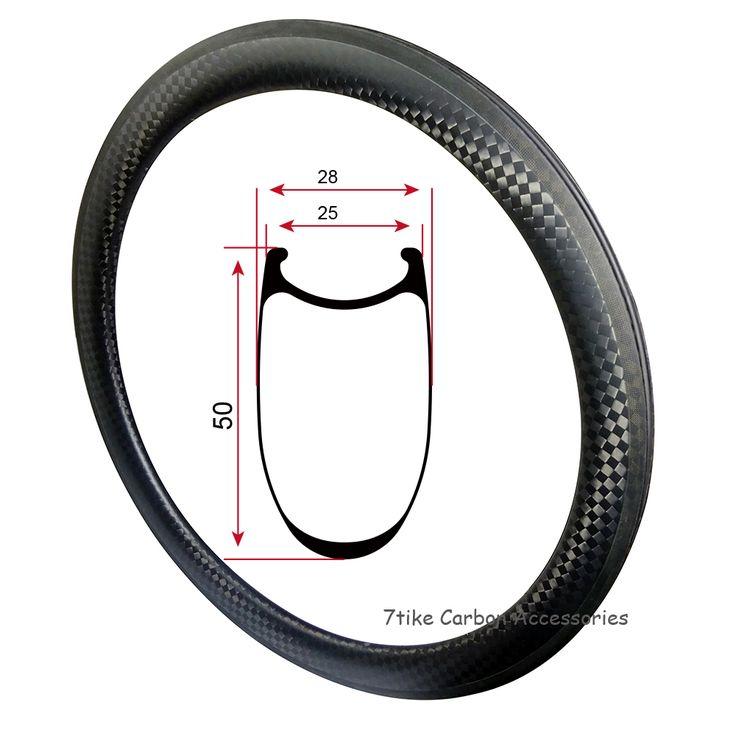 12K Weave 50mm depth fat width carbon bike rim carbon wheel rim 700c 25mm width cycling U shape matte Fixed gear wheelset