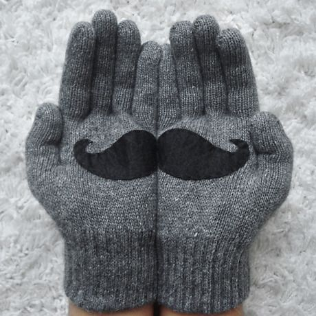 スティールグレイ - ひげ|心も暖まるほっこり手袋 by Yastikizi handmade