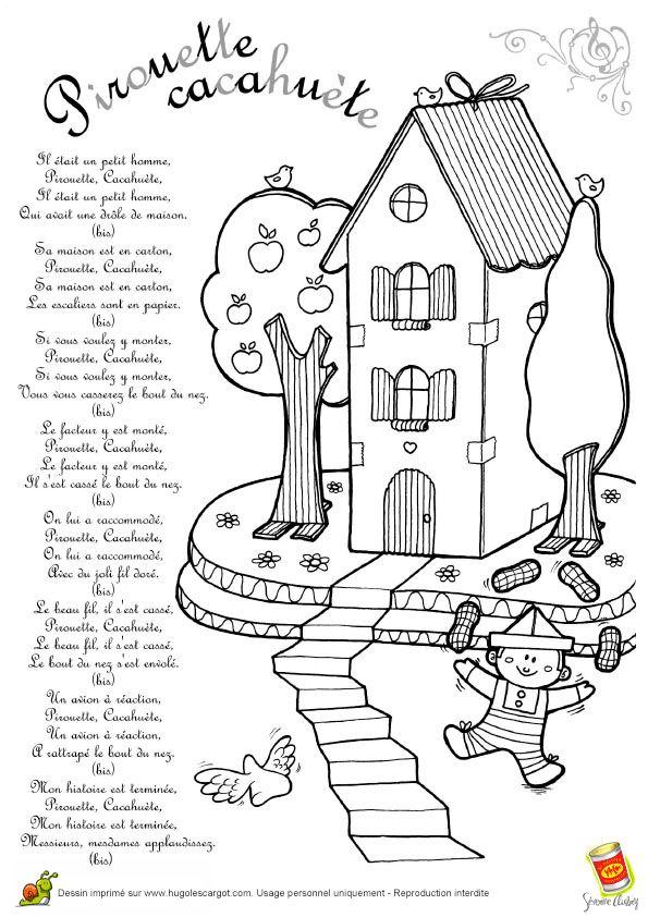 Comptine Pirouette Cacahuete, page 12 sur 13 sur HugoLescargot.com