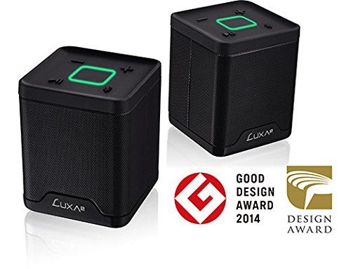 Amazon.com: LUXA2 AD-SPK-PCGDBK-00 Groovy Duo Bluetooth Speakers Portable Sound System with Dynamic Pairing Mode for iPhone, iPad, Samsung, Smart Devices (Black): Electronics