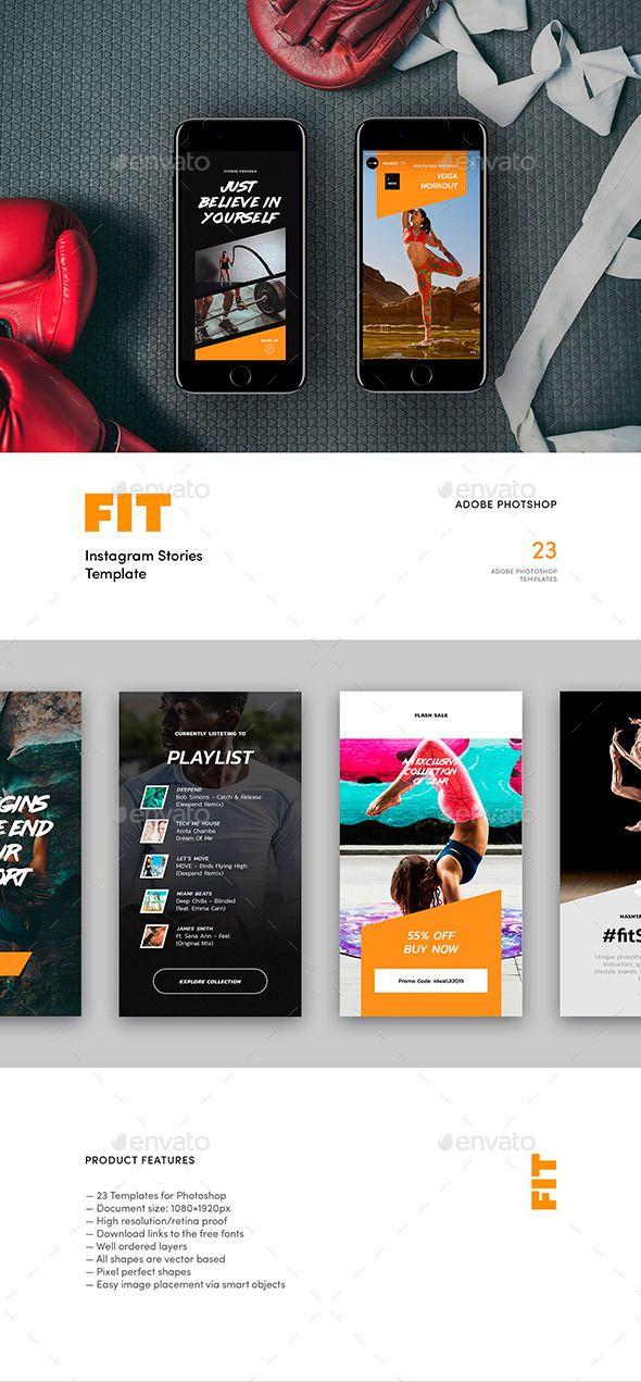 FIT — Instagram Story Templates - Social Media Web Elements ...