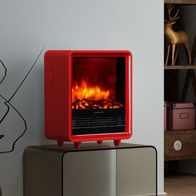 "Puraflame 12"" Red 1500W Octavia Portable Electric Fireplace"