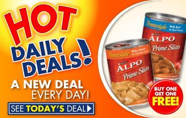 Family Dollar Daily Deal – 2 FREE Cans of Alpo Dog Food