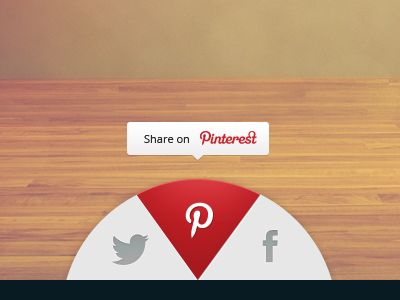 UI Design Dribbble - Share widget by Tiberiu Neamu
