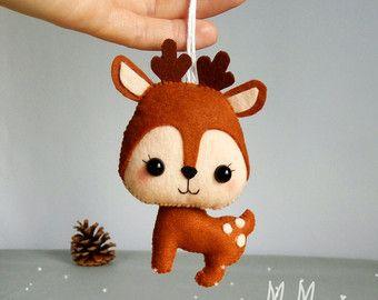 Ornement de petit renard sentait décorations de par MyMagicFelt