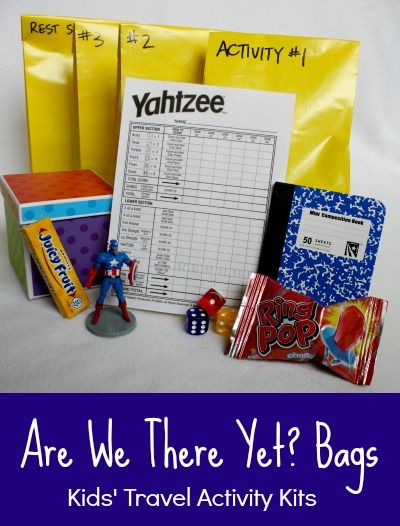 Are We There Yet Bags? Inexpensive travel activity bags for kids (tons of Dollar Tree ideas!)