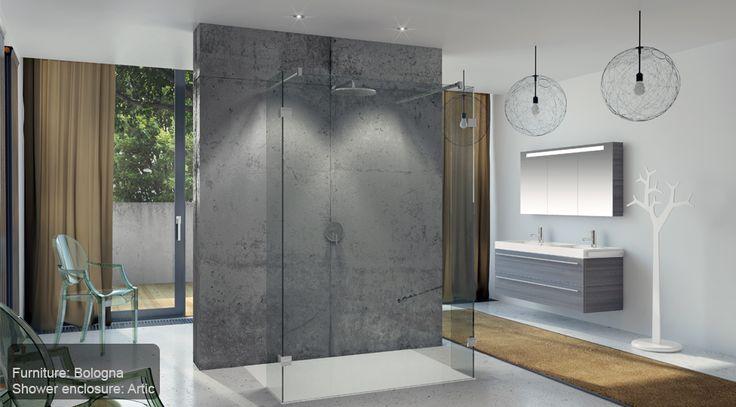 Современный дизайн большой ванной комнаты с просторной душевой кабиной. #большая_ванная_комната #дизайн_ванной #душевая_кабина #современная_ванная_комната