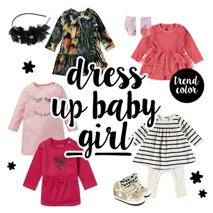 Een te gekke outfit voor je kleine meisje maak je compleet met eerste stapschoentjes van Shoesme! Outfit gespot op baby-label.com