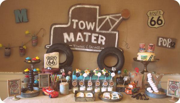 Kara's Party Ideas Vintage Radiator Springs Cars Boy Disney Birthday Party Planning Ideas