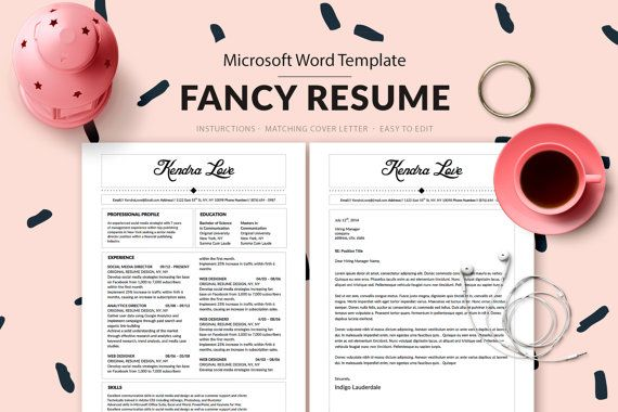 10 best kendra love fancy resume template images on
