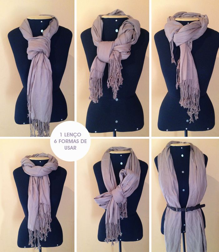 Six Simple ways to tie a scarf