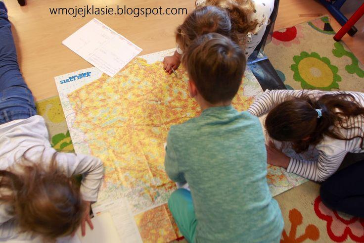 Edukacja językowa - Na mapie ~ Nauka i zabawa z dzieckiem - W mojej klasie
