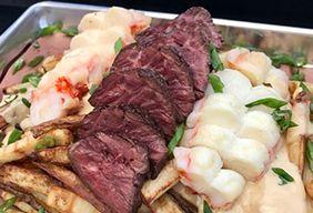 Hanger Steak and Lobster Fondue Poutine