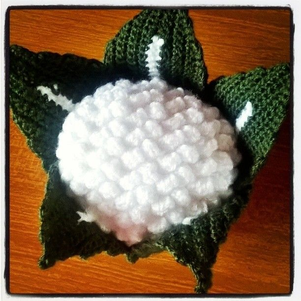 Un #cavolfiore quasi a grandezza naturale #ortaggi #uncinetto #crochet #creazioni #amigurumi