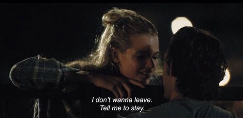 I don't wanna leave. Tell me to stay.
