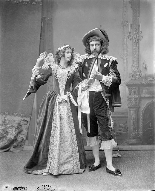 Mr. and Mrs. Stairs in costume probably worn at Lady Aberdeen's historical ball, Ottawa, Canada, February 1896. #Victorian #portraits #Canada #1800s #costumes
