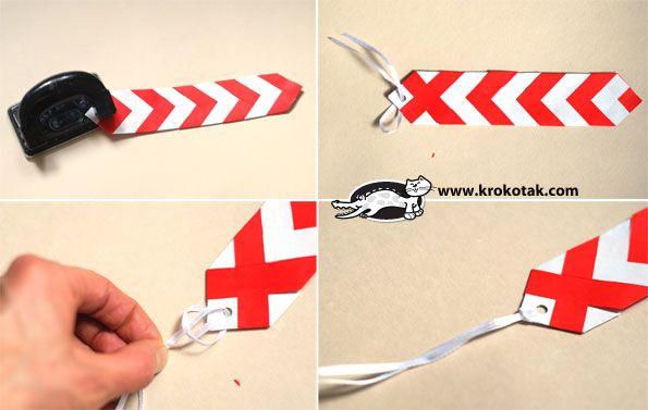 A bookmark in the colours of Baba Marta:) | krokotak