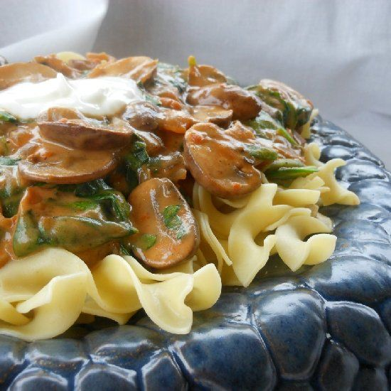 Portobello Mushroom Stroganoff is a delicious, healthy version of one our favorite comfort foods.