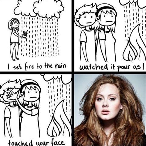 visual interpretation of Adele.