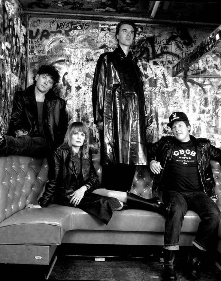 Talking Heads   CBGB's Circa 1985  Photo by Richard Corman (CBGB Rest in Angst)