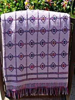 I love this afghan! It's called the Purple Jewel Afghan  Chart Pack.