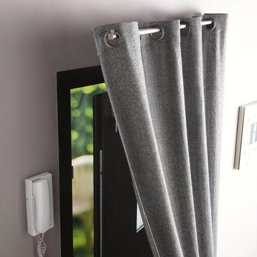 Tringle à rideau de porte IB+ pour rideaux à œillets, D. 20 mm, l 100 cm, chromé…