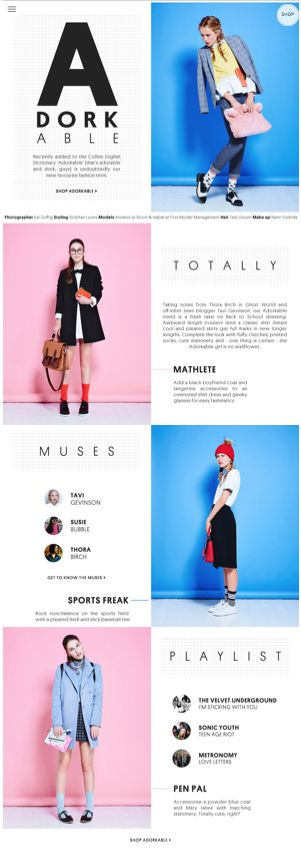 Topshop #website #design