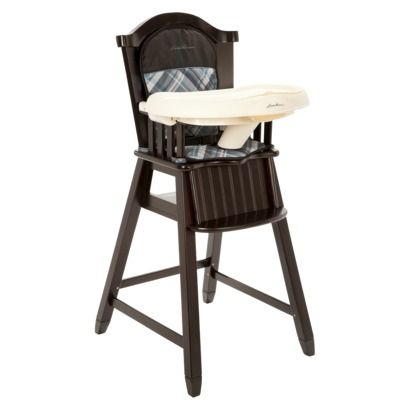 target. not as many nooks and crannies as the plastic high chairs.Eddie Bauer High Chair - Clearbrook Blue
